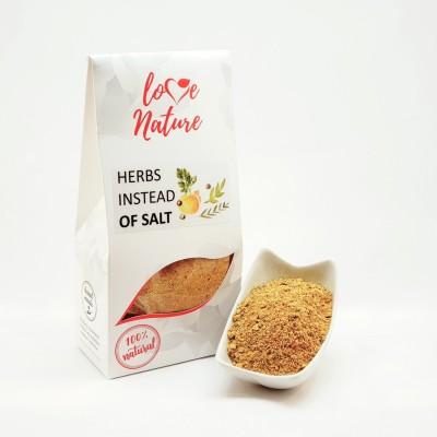 Herbs instead of salt
