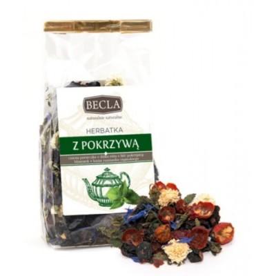 Nettle tea with blackcurrant