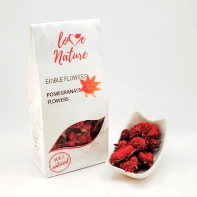 Pomegranate flower edible