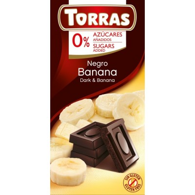 Dark chocolate with bananas 75g