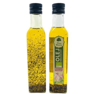 BIO Garlic and basil oil