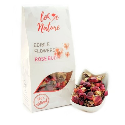 Rose buds edible