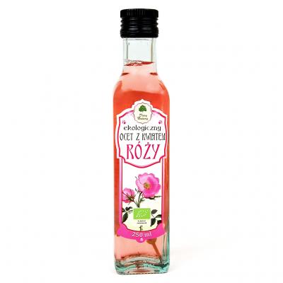 BIO Vinegar with rose flower