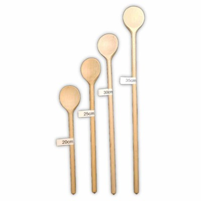 Wooden cooking spoon round