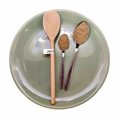 Wooden cooking spoon oval
