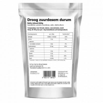 Dry sourdough durum
