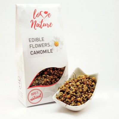 Kamille bloemblaadjes eetbaar